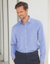 Men`s Gingham Cofrex/Pufy Wicking Long Sleeved Shirt